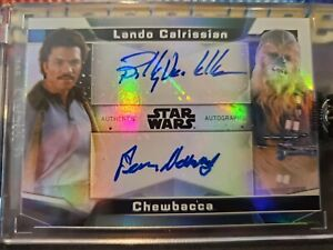 2021 Topps Star Wars Signature Series Dual Peter Mayhew Billy Dee Williams #1/5