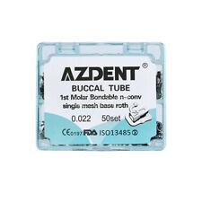 AZDENT Non-Convertible Dental Ortho Buccal Tube 1st Molar Roth 0.022 Bondable