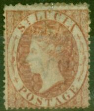More details for st lucia 1860 (1d) rose-red sg1 ave mtd mint