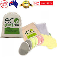 10 Pack Bamboo Nursing Breastfeeding Pads Washable Reusable Ultra-Soft Organic
