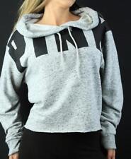 Victoria's Secret PINK Hoodie Lace Up Sweatshirt Crop Logo NWT