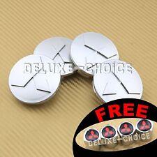 "set 4 Silver Wheel Center Hub Cap Badge Logo Car Alloy Rim 60mm 2.36"" US seller"