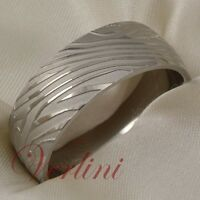 Titanium Wedding Band Ring Damascus Style Hot Size 6-13