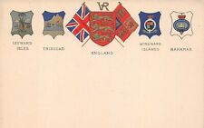 COATS OF ARMS OF ISLAND COUNTRIES OF THE CARIBBEAN & ENGLAND, c 1902