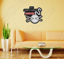"Naughty Hooker Prostitute Pimp Yarn Wall Sticker Room Interior Decor 22""X22"""