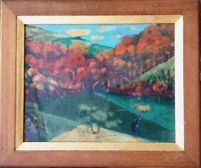 Louis Camille Régnier «l'âne boudeur» huile sur panneau encadré circa 1950.