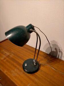 Ancienne lampe bureau administratif à poser vintage rétro design abat-jour