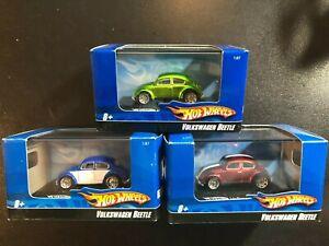Hot Wheels Volkswagen Beetle 1:87 Scale Lot of 3 different variants