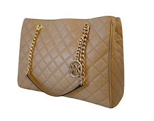 Michael Kors Susannah Large Quilted Leather Tote Handbag Shoulder Bag 35F6GAHT3L