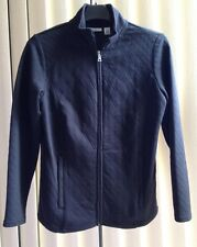 NEW Womens Croft & Barrow Quilted Zipper Coat Jacket Black Size PXS