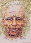"""Miniature artwork on paper """" Self-portrait of the Artist 4 """"ACEO"""