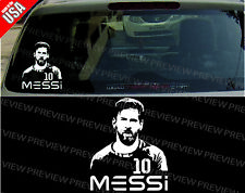 LIONEL MESSI BARCELONA FCB FOOTBALL SOCCER cool Decal Car Window bumper Sticker