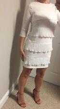 NEW!ASOS WHITE LAYERED MINI DRESS SIZE 4 Sexy Gorgeous