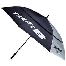 "Bridgestone Golf Double Canopy 68"" Tour Umbrella - HEAVY DUTY - FREE POSTAGE"
