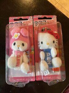 Hello Kitty Plush PEZ Candy Dispenser and Clip Key Chain Kawaii