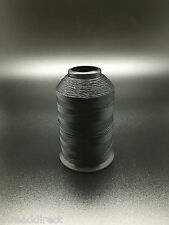 4oz Spool Black T70 1500 Yards Bonded Polyester Sewing Thread #69 Fabric P14