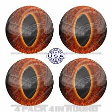"4 Pack 4"" Round 3M Premium Grade Window Tailgate Decal Sticker DEMON SNAKE EYE"