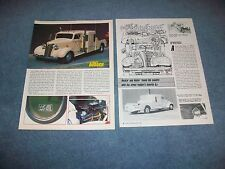 """1938 Chevy 1-1/2 Ton Dually Custom Pickup Article """"Cruisin' with Wings"""""""