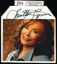 Loretta Lynn JSA Coa Signed 6X6 Photo Autograph