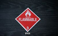 Flammable Decal sticker Flame hazard caution Fire toxic Deadly