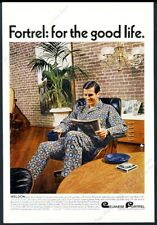 1966 Charles Eames lounge chair and ottoman photo Fortrel vintage print ad