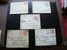 FRANCE - 5 enveloppes 1903 (cy60) french