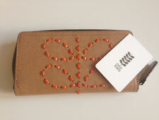 ORLA KIELY LACED STEM LEATHER BIG ZIP WALLET. BNWT AND DUST BAG.