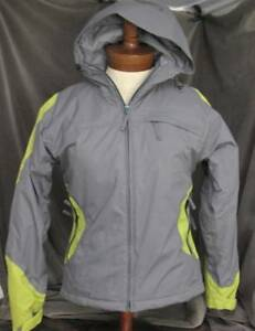 SOLSTICE Women's Waterproof Gray/Green Thinsulate Insulated Jacket Small