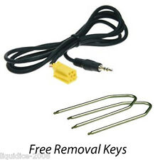 CITROEN NEMO 2008 ONWARDS AUX IN AUXILIARY 3.5 JACK CABLE IPOD IPHONE MP3