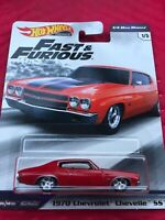 2019 HOT WHEELS PREMIUM FAST & FURIOUS CHEVY CHEVELLE SS 1/4 MILE MUSCLE
