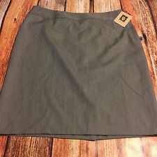 NWT New Anne Klein Heather Grey Skirt Careers Business Professional sz 14 Lined