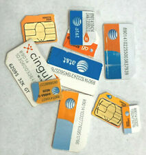 Lot Of 10 At&T Cingular Usa Gsm Cell Phone Sim Cards - Untested