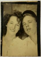 Young Lovers In The ARCADE, Couple, Man, Woman, Vintage Photo Snapshot