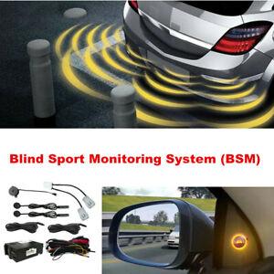 12V Car Blind Spot Monitoring System Sensor Distance Assist Lane Changing Tool