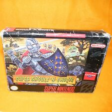 VINTAGE SUPER NINTENDO ENTERTAINMENT SYSTEM SNES GHOULS 'N GHOSTS GAME BOXED