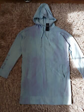 New Women's HOLLISTER Lace-Up Sweatshirt Dress Size S light blue tie-dye