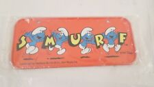 Sealed 1983 Peyo Metal SMURF Bicycle License Plate
