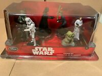 Disney Store Star Wars 6 Piece Figurine Set Darth Vader Yoda Boba Fett Luke New