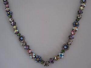 Sorrelli Vintage Inspired  Crystal Necklace - Jewel Tone - Pale Hues