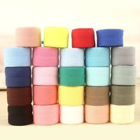 2cmx10M Clothing Fabric Band Fold Over Elastic Stretch Ribbon Sewing Garment DIY