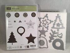FESTIVE SEASON stamp & FESTIVE STITCHING framelits By Stampin Up Christmas Sew