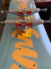 "New listing Venture trucks X Thrasher Hi 5.2"" yellow polished Skateboard Trucks"