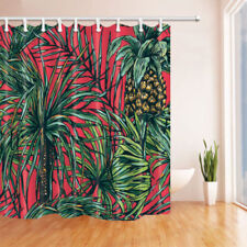 Tropical Palm Trees Shower Curtain Bathroom Waterproof Fabric & 12 Hooks 71*71""