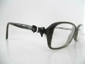 Chanel Marbled/Glittery Black Oval/Square Eye Glasses 3211 c.1263 51 16 135