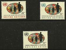 United Nations Scott #Ny 151-53, Singles 1965 Complete Set Fvf Mnh