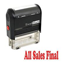 NEW ExcelMark ALL SALES FINAL Self Inking Rubber Stamp A1539 | Red Ink