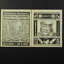 Top Notgeld Variante Oberheldrungen papier grün grau ,german emergency money unc