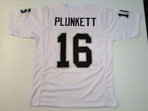 UNSIGNED CUSTOM Sewn Stitched Jim Plunkett White Jersey - M, L, XL, 2XL