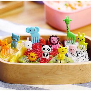 10pcs Bento Cute Mini Animal Food Fruit Picks Forks Lunch Box Accessory Decor CN