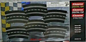 Carrera 20573 6 Pieces of Radius 3/30 Curve Track 1/24 & 1/32 Slot Car Track